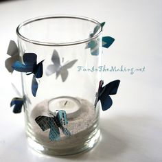 Can Butterfly Decorated Lamp