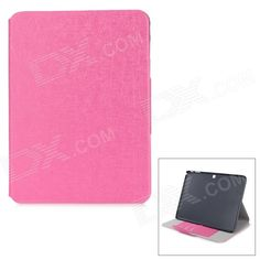 """Flip-open PU   PC Case w/ Holder   Card Slot for Samsung Galaxy Tab 4 T530 10.1"""" - Deep Pink Price: $10.84"""