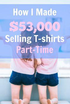 Merch by #Amazon: $53k in T-Shirt #Profits in 10 Hours a Week >> http://www.sidehustlenation.com/merch-by-amazon/