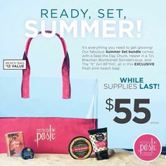 SUMMER BUNDLE!!☀ Come with Seas the day bath chunk, Healer in a tin, Brazilian Bombshell Body butter, and the It Girl Hand creme! You also get this Cutesey pink Posh beach bag!