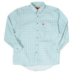 fb3270c6 Wrangler FR 20X Lightweight Plaid Shirt - Turquoise Plaid