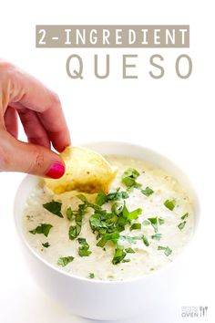 All you need are 2 easy ingredients and 5 minutes to make this delicious, creamy queso dip! ~~salsa verde y queso de crema Dip Recipes, Mexican Food Recipes, Cooking Recipes, Yummy Recipes, Recipies, Yummy Food, Yummy Appetizers, Appetizer Recipes, Party Appetizers