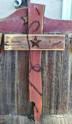 Barn wood Cross handcrafted by Once Abarn A Time by onceabarnatime, $29.00