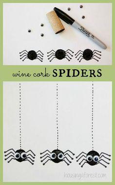 Wine Cork Spider ~ Halloween Craft