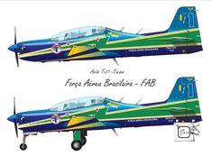 AVIÃO T-27 - TUCANO - 01 Avião T-27 Tucano da Força Aérea Brasileira, que operavam na Esquadrilha da Fumaça. Desenho - Ilustração - Illustration - Drawing http://arterocha.blogspot.com.br