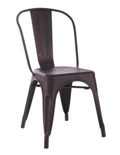 Sillas de diseño Industrial DALLAS. Decoración en sillas de metal.
