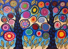 Kerri Ambrosino Mexican Folk  Art PRINT Bright by kerriambrosino, $20.00
