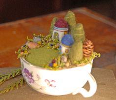 Pequeñas casas y jardines jardín de hadas en una por gingerlittle