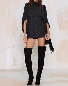340c14bf71 Black Chic Turtle Neck Knit Sweater Spring Trends