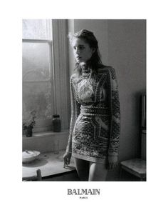 Balmain Fall 2012 Ad Campaign  Nadja Bender photographed by David Sims