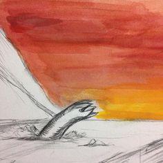 Sandworms! Hate 'em right? #dune #WIP #sandworm #goauche by xenosaurus_