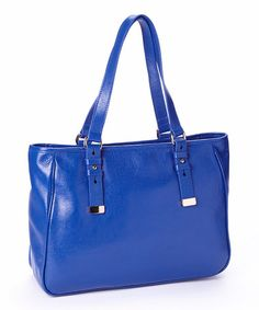 Another great find on #zulily! Cobalt Adjustable-Handle Leather Tote by Zenith #zulilyfinds