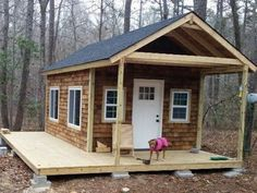 Build ANY Shed In A Weekend - You Can Do This DIY Tiny Cabin in the Woods Project Our plans include complete step-by-step details. If you are a first time builder trying to figure out how to build a shed, you are in the right place! Tiny House Cabin, Tiny House Plans, Tiny House Design, Shed Cabin, Shed To Tiny House, Sheds To Live In, Tiny Cabin Plans, Off Grid Tiny House, Off Grid Cabin