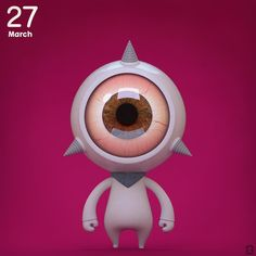 Dalmon no.52 (52/100)  #daily #Dalbum_3Dart #dalmon #monster #monster #modeling #b3d #blenders #cg #cgart #character #character3D #characterdesign #illust#behance #instart#arttoy #eyeball#dailycharacter#3d#characteroftheday by dalbum