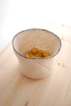 Crochet bowl made out of rope