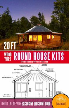 Round House Plans, A Frame House Plans, Small House Floor Plans, Cabin House Plans, Tiny House Cabin, Dream House Plans, Cabin Homes, Tiny Houses, Modern Tiny House