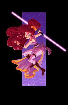 I got a commission for a Jedi Meg sketch, and I enjoyed it so much I decided to color it. Megara Disney, Disney Au, Disney Fan Art, Disney Love, Disney Magic, Disney Pixar, Disney Princesses, Walt Disney, Disney Artwork