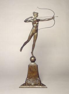 Diana of the Tower National Gallery of Art Roman History, Art History, Augustus Saint Gaudens, Art Deco, Modelos 3d, Bronze, National Gallery Of Art, Objet D'art, Wire Art