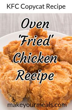 Copycat Fried Chicken Recipe How to make Oven 'Fried' Chicken that tastes just like KFC. How to make Oven 'Fried' Chicken that tastes just like KFC. Copycat Fried Chicken Recipe, Oven Baked Fried Chicken, Fried Chicken Legs, Buttermilk Oven Fried Chicken, Fried Chicken Drumsticks, Kfc Oven Baked Chicken Recipe, Kentucky Fried Chicken Recipe Baked, How To Fry Chicken, Chicken Little Recipe