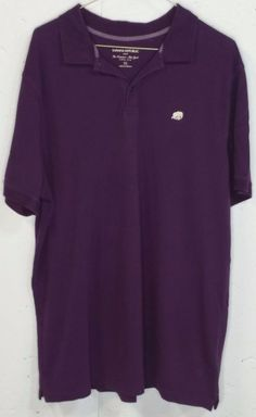 Banana Republic Mens Purple Pique 100% Cotton Short Sleeve Polo Shirt XL #BananaRepublic #PoloRugby