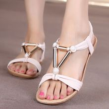 US $7.00 Women Shoes Women Sandals Bohemia Style Ankle-strap Flip Flops Summer Flat Shoes Woman Ladies Shoes Sandalias Mujer. Aliexpress product