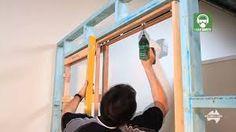 secret SLIDING doors - hOW TO FRAME UP A SLIDING POCKET DOOR
