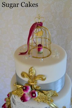 Birdcage on French Cake by Sugar Cakes