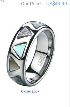 Carbide Ring with M.O.P- TG2409 Justtitanium.com