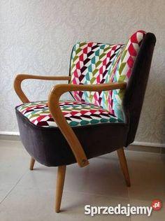 Fotel klubowy lata 60 patchwork stylowy Warszawa