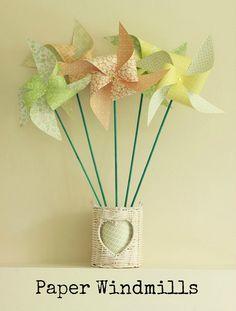 DIY Tutorial: Paper Windmills