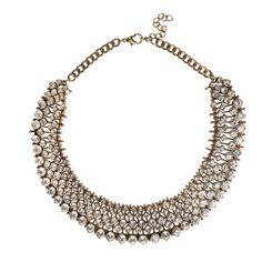 Sparkling Gold Statement Choker Necklace