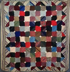 Primitive Antique Log Cabin QUILT Cathedral Steps 71x71 Primitive Antiques, Country Primitive, Old Antiques, Antique Wedding Rings, White Barn, Applique Quilts, Country Decor, Hand Stitching, Cathedral