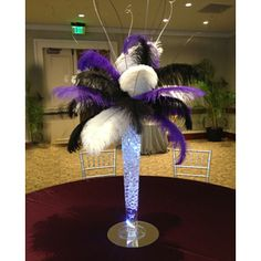 """Wholesale Event Solutions - Ostrich Feather Centerpiece with 24"""" Trumpet Vase, $209.85 (http://www.eventswholesale.com/ostrich-feather-centerpiece-with-24-trumpet-vase/)"""