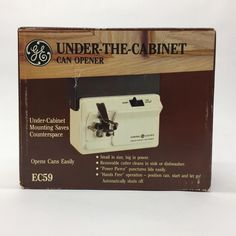 General Electric GE Under The Cabinet Can Opener EC59 NOS Brand New In Box  | eBay