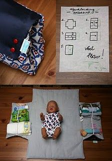 On the go, changing mat for babies