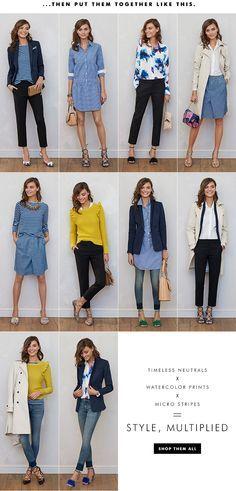 Women's Apparel: 10 pieces, 10 outfits | Banana Republic