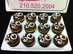 50th birthday cupcakes | Flickr - Photo Sharing!