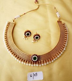 Gold Necklace Plated Choker Set Indian Wedding Earring New Bridal Jewelry Sets  #VardhamanGoodwill #Chain