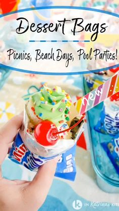 Candy Recipes, Sweet Recipes, Cookie Recipes, Pool Party Cakes, Peanut Butter Candy, Ice Cream Candy, Mini Cookies, Ice Cream Toppings, Cookies