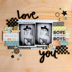 All About Scrapbooks - Cocoa Vanilla Super Rad - Love You by Fiona Johnstone