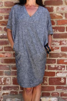 GINGER Grey Chambray $138 S/M/L www.gingercaftan.com