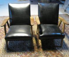 twee retro fauteuils