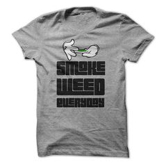 Awesome Tee Smoke Weed Everyday T shirts