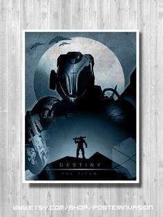 DESTINY Titan poster, Game posters, The Titan poster, Destiny gamer room, Art print by PosterInvasion on Etsy
