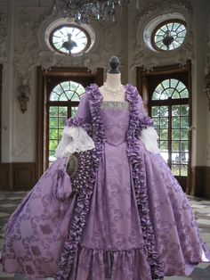 "WOW is all I can say   -   Colonial Georgian 18thc Marie Antoinette Day Court gown. Fully Corseted""MADE TO MEASURE"""