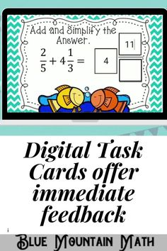 Digital task cards or Boom Cards™ are a great way for students to practice every day skills In this 30- card deck, students practice adding and subtracting mixed numbers with unlike denominators. This set is perfect for classroom, virtual learning or homework.