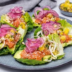 Laxtataki med mango- och chilidipp i gemsallad Healthy Menu, Healthy Eating, Healthy Recipes, Baby Food Recipes, Cooking Recipes, Pak Choi, Good Food, Yummy Food, Summer Recipes
