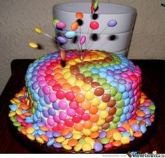 Adorable M Cake idea
