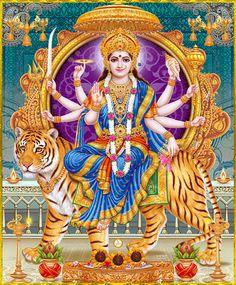 Navratri Puja will help you overcome all your negativities. Flourish with wealth on this Navratri by offering Homam to Lakshmi, Saraswathi & Durga. Maa Durga Image, Durga Kali, Saraswati Goddess, Durga Puja, Shiva Shakti, Goddess Lakshmi, Kali Mata, Shiva Art, Hindu Art