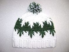 Frozen winter hat with a closed top - such a cute and spikey design on this crochet beanie
